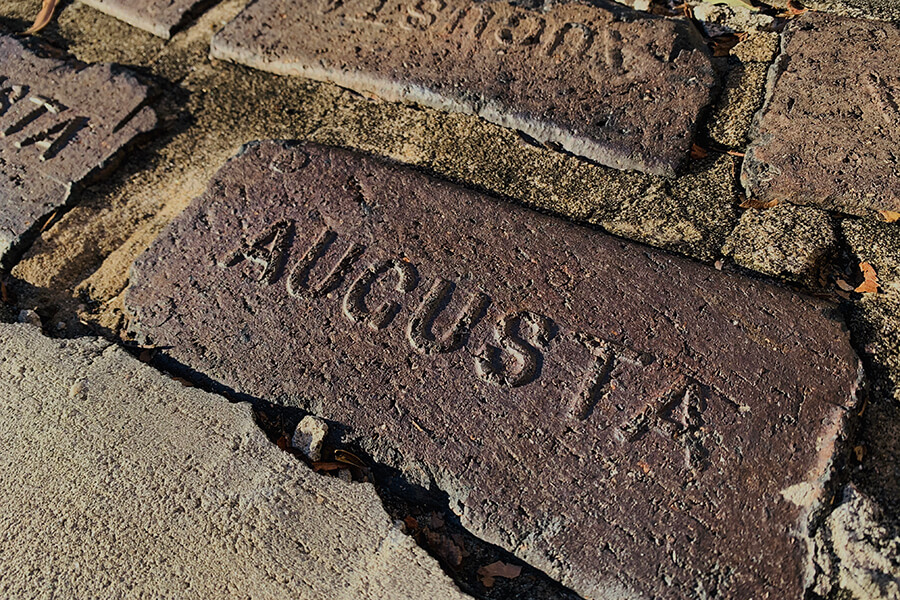 Martinez Insurance - Augusta Engraved on Brick